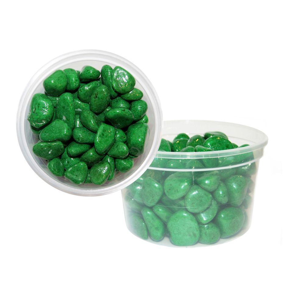 Галька цветная крупная EVIS зеленая 15х25 мм