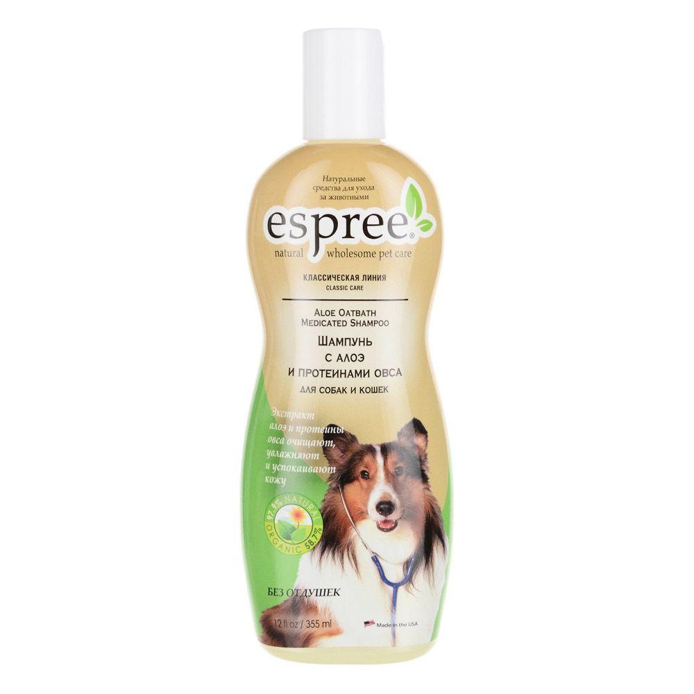 Шампунь ESPREE с алоэ и протеинами овса для собак и кошек CLC Aloe Oatbath Medicated 355 мл
