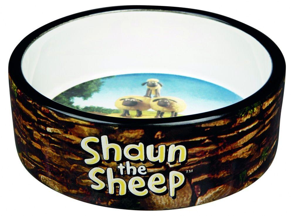 Миска для животных TRIXIE Shaun the Sheep керамическая коричневая 12см 300мл