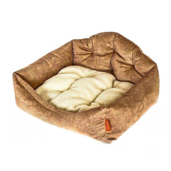 Лежак для собак HAPPY PUPPY Лофт бежевый 65х45 домик для собак геометрия happy puppy горошек бежевый 40х40х40см