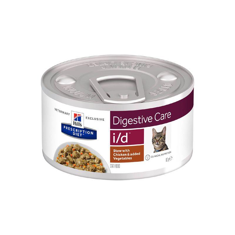 Корм для кошек Hill's Prescription Diet i/d при расстройстве жкт, рагу с курицей и добавлением овощей конс. 82 г фото