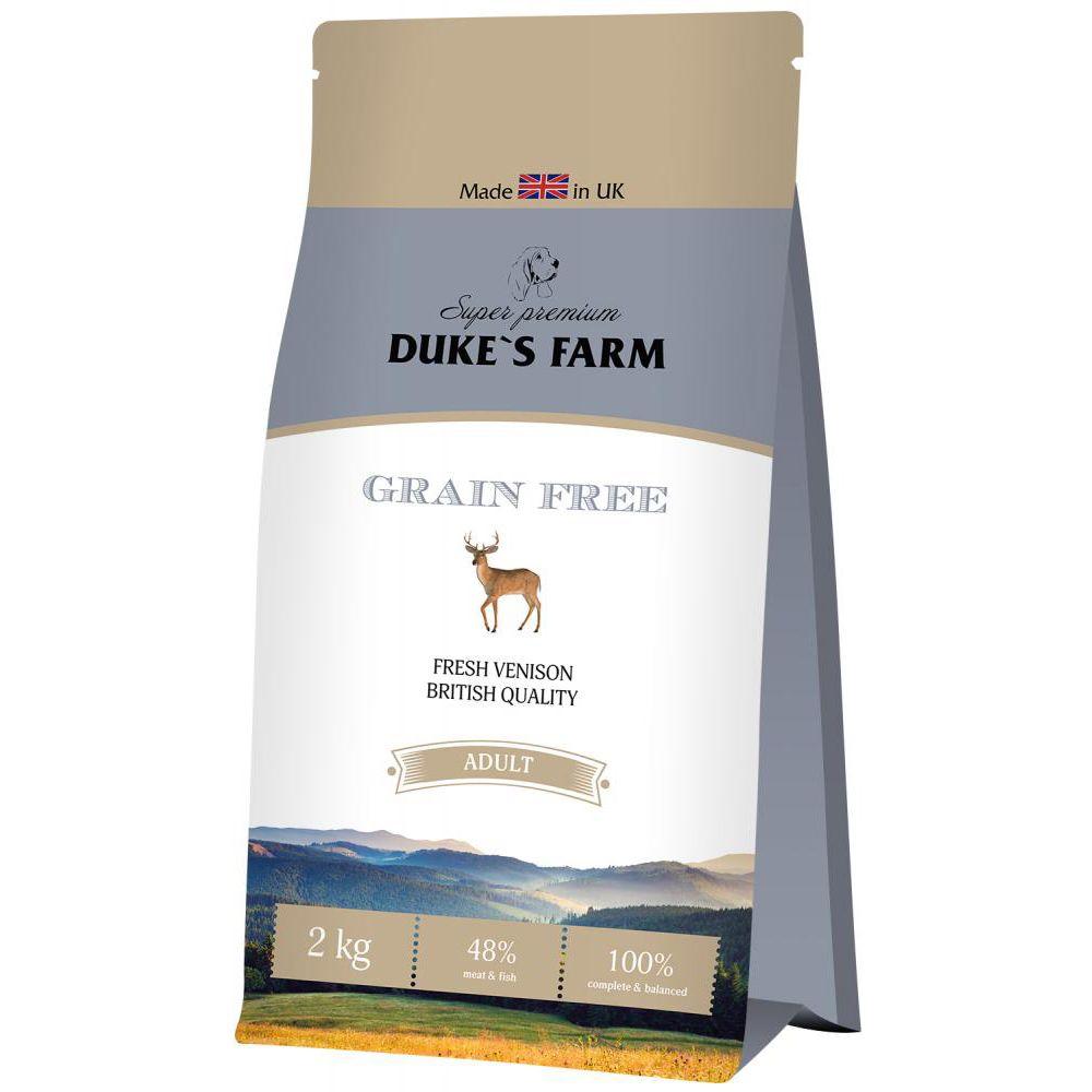 купить Корм для собак DUKE'S FARM беззерновой, оленина сух. 2кг дешево