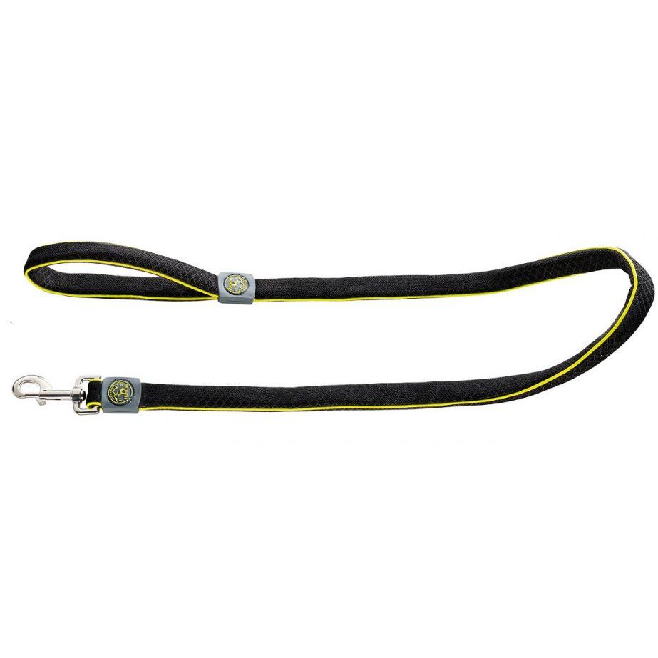Поводок для собак HUNTER Maui 20/140 сетчатый текстиль черный