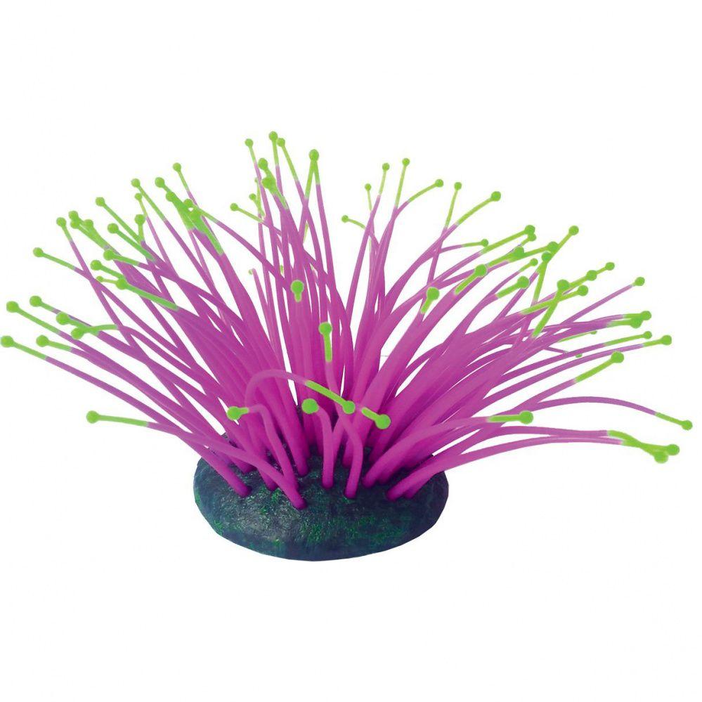 Декор для аквариумов JELLYFISH Коралл Актиния светящийся фиолетовый 9,5х8,5х9см
