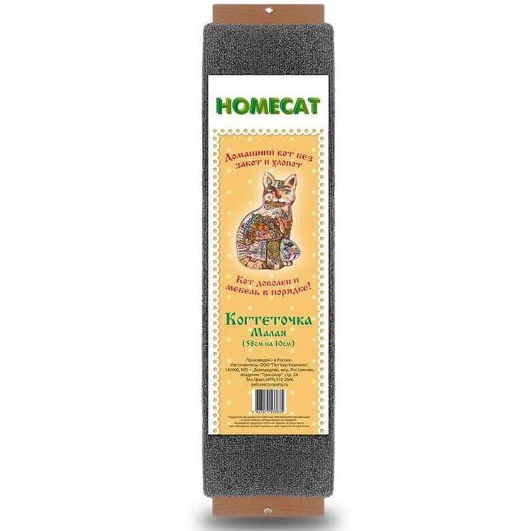 Когтеточка для кошек HOMECAT с кошачьей мятой малая 58х10см