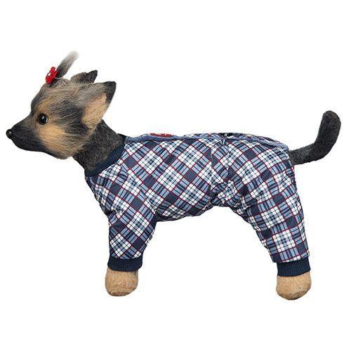 Комбинезон для собак Dogmoda Нью-Йорк мальчик, размер 3 28см шлейка для собак dogmoda лаки размер 3 l