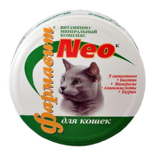 Витамины для кошек НПП ФАРМАКС ФАРМАВИТ NEO К 60таб