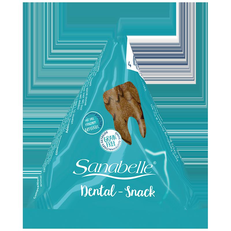 Фото - Лакомство для кошек SANABELLE Dental Snack для профилактики образования зубного камня 20г sanabelle sanabelle snack полувлажное лакомство для кошек для улучшения пищеварения с сайдой и инжиром 55 г