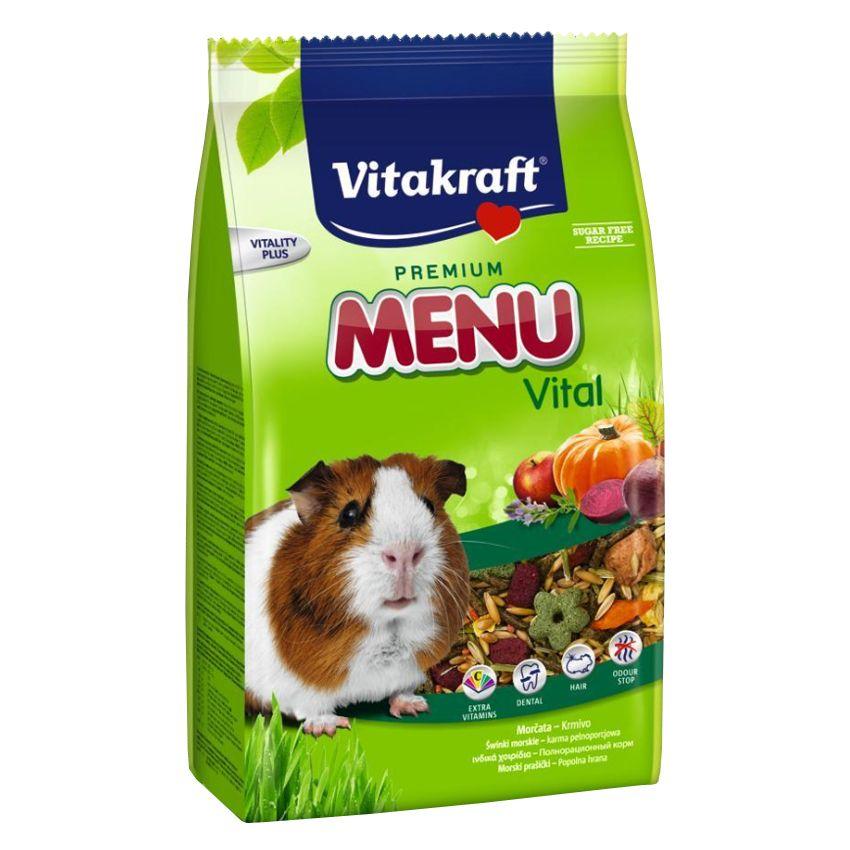 Фото - Корм для грызунов VITAKRAFT MENU для морских свинок сух. 1кг корм для грызунов vitakraft для дегу сух 600г