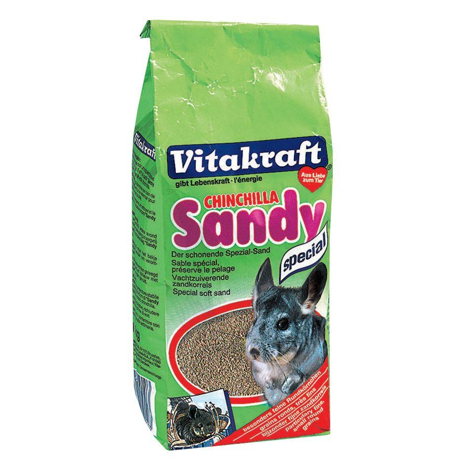 Наполнитель для грызунов VITAKRAFT CHINCHILLA SANDY песок для шиншилл 1кг