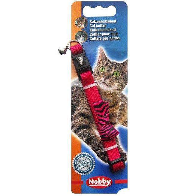 Ошейник для кошек Nobby БАБОЧКА розовый