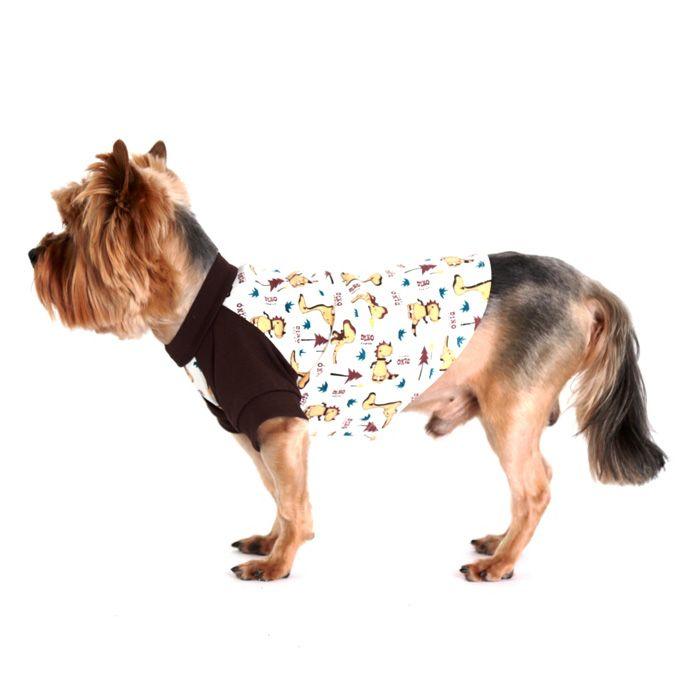 Футболка для собак YORIKI Дино унисекс размер S 20см дино эспозито архитектура корпоративных мобильных решений