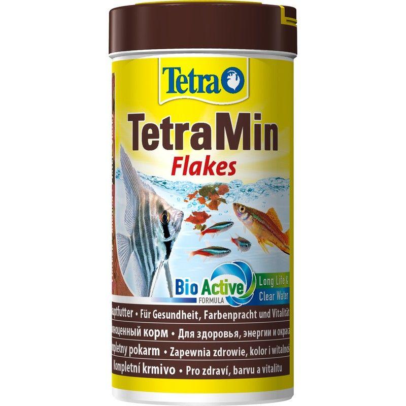 Корм для рыб TETRA Min для всех видов рыб в виде хлопьев 250мл корм для рыб tetra betta в виде гранул 5г