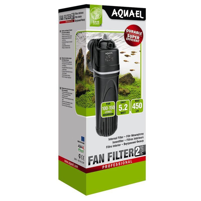 Фото - Внутренний фильтр AQUAEL FAN FILTER 2 plus для аквариума 100 - 150 л (450 л/ч, 5.2 Вт) внутренний фильтр aquael fan filter 3 plus для аквариума 150 250 л 700 л ч 12 вт