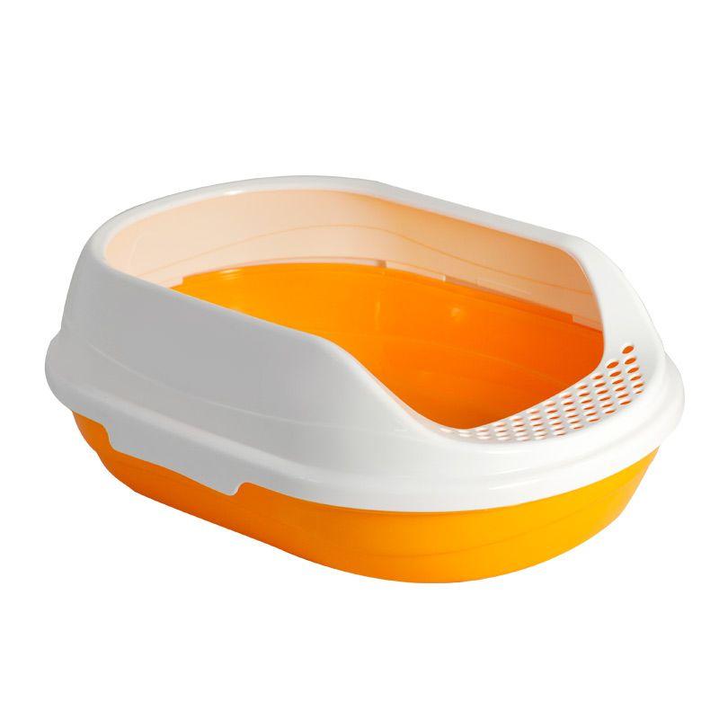Туалет для кошек TRIOL овальный с бортом, 43х30х15см