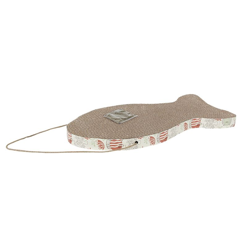 Когтеточка для кошек MAJOR Fish картон 50х23см когтеточка для кошек major домик лапы 30х30х57см коричневый