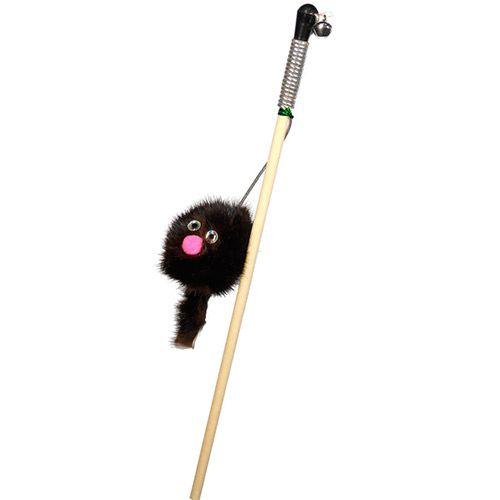 Игрушка для кошек GoSi Дразнилка Зверек из норки на веревке на картоне с еврослотом игрушка для кошек homecat дразнилка лапка из норки с лентами 71133 1 шт