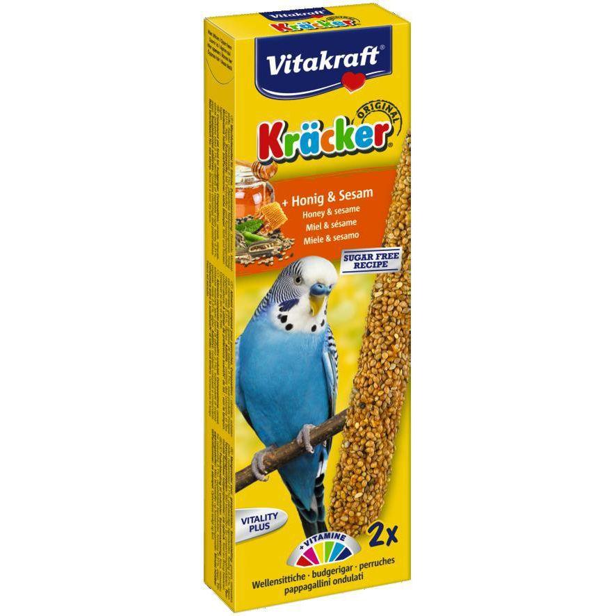 Лакомство для птиц VITAKRAFT Крекеры для волнистых попугаев медовые (2шт.уп) игрушки для попугаев волнистых своими руками