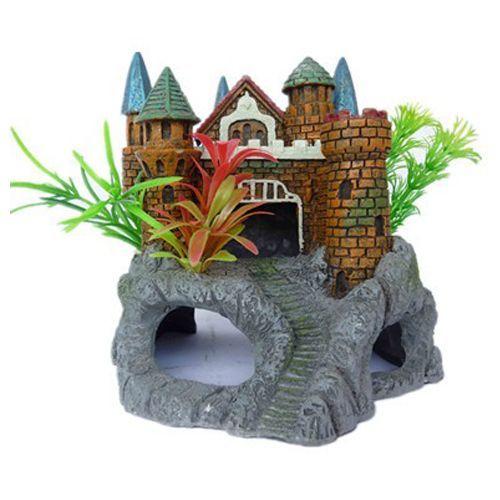 Грот для аквариума МЕЙДЖИНГ АКВАРИУМ Крепость с растениями