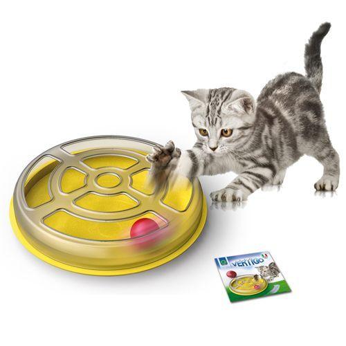 лучшая цена Игрушка для кошек GEORPLAST Vertigo с шариком d=29см пластик