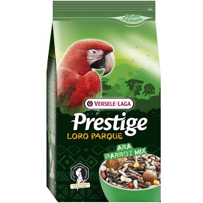 Корм для птиц VERSELE-LAGA Prestige Premium Ara Parrot Loro Parque Mix для крупных попугаев 15кг