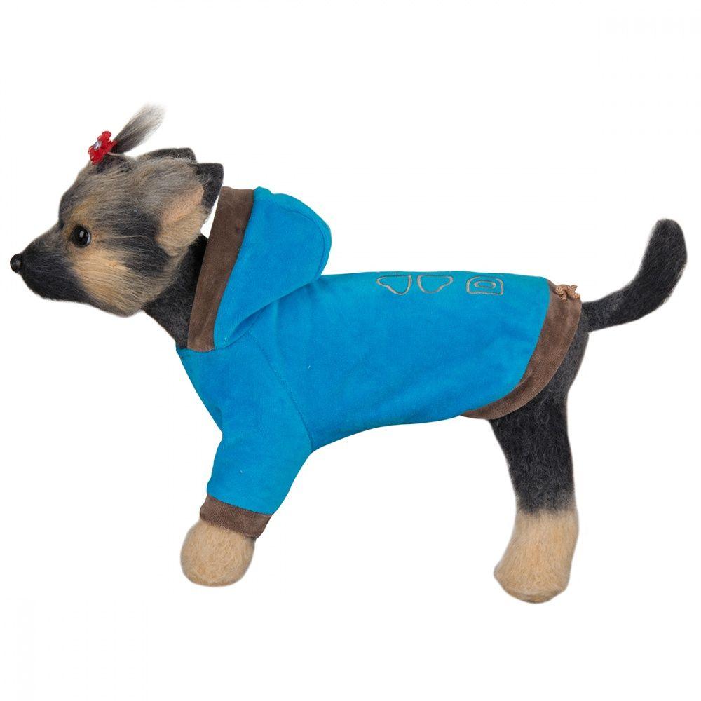Куртка для собак Dogmoda Хоум-4 велюровая (цвета в ассортименте) 32см