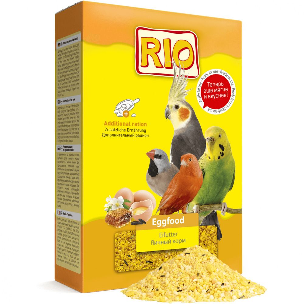 Корм для птиц RIO Яичный корм для всех видов птиц 350г лакомство rio seeds sesame кунжут для всех видов птиц 250 г 250 г