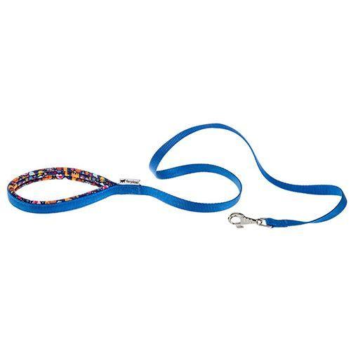 Поводок для собак FERPLAST Daytona Fantasy G15/120 синий, нейлон