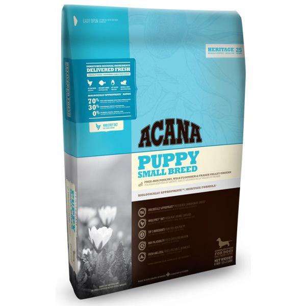 Корм для щенков ACANA Puppy Small Breed Heritage для мелких пород (70/30) сух. 6кг acana heritage sport