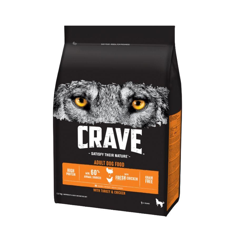 Корм для собак Crave Курица, индейка сух. 2,8кг