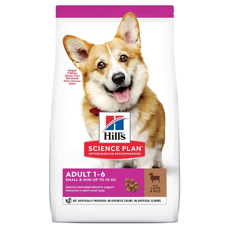 Корм для собак Hill's для миниатюрных пород, ягненок, рис сух. 300г