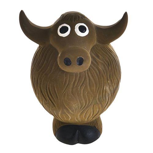Игрушка для собак Foxie Буйвол с пищалкой 11х8,5х7см латекс коричневый