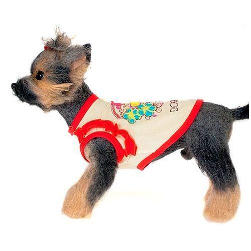 Майка для собак HAPPY PUPPY Романтика размер 4 майка для собак happy puppy пляжная унисекс цвет белый голубой красный размер 4 xl