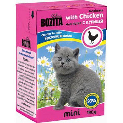 купить Корм для котят BOZITA MINI 2106 кусочки в желе с Курицей конс. 190г онлайн