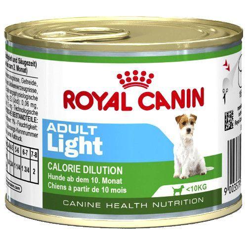 Корм для собак ROYAL CANIN Adult Light с 10 месяцев до 8 лет склонных к полноте конс. 195г корм для щенков royal canin роял канин junior до 10 месяцев конс 195г