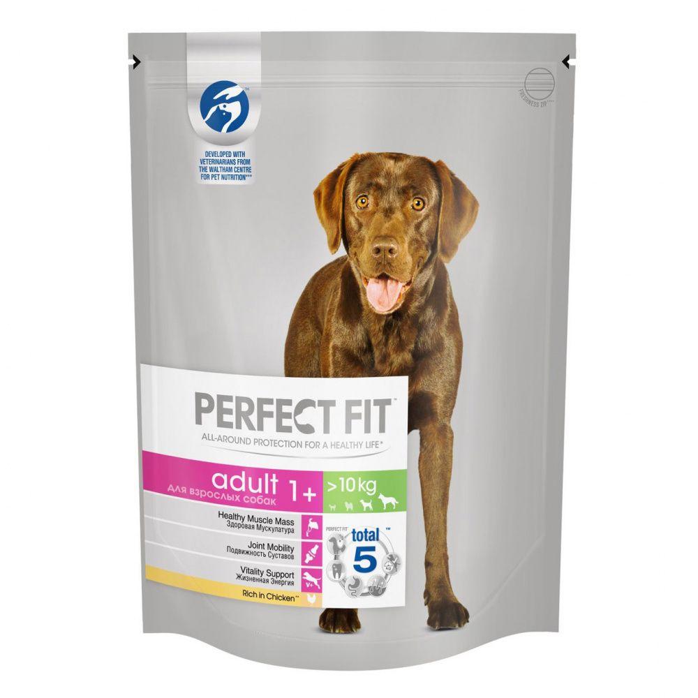 Корм для собак PERFECT FIT для средних и крупных пород, курица сух. 800г