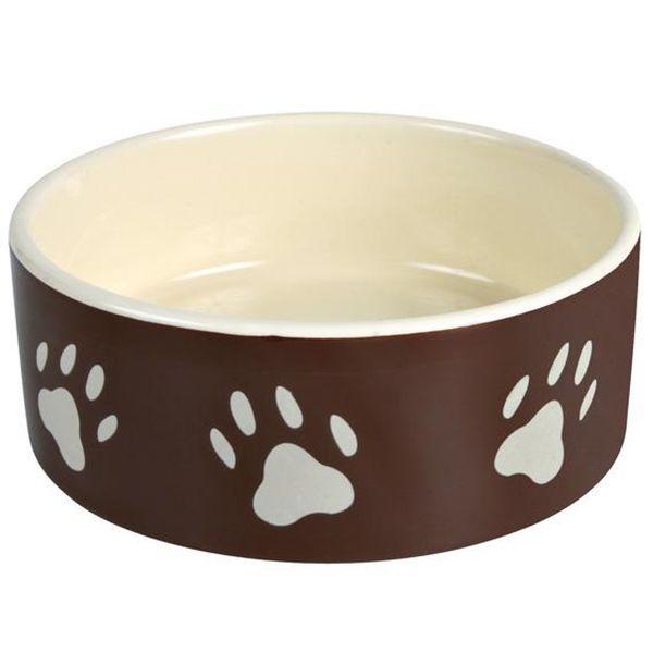 Миска для животных MAJOR Лапы коричневая керамическая 16х6см 560мл чехол для ноутбука 14 printio след лапы