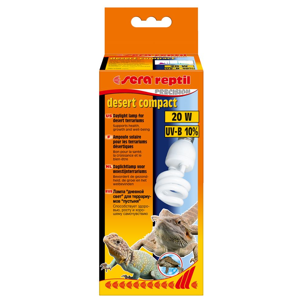 бинокль eschenbach sector d 8 х 32 b compact Лампа SERA Reptil Desert Compact UV-B 10% 20w