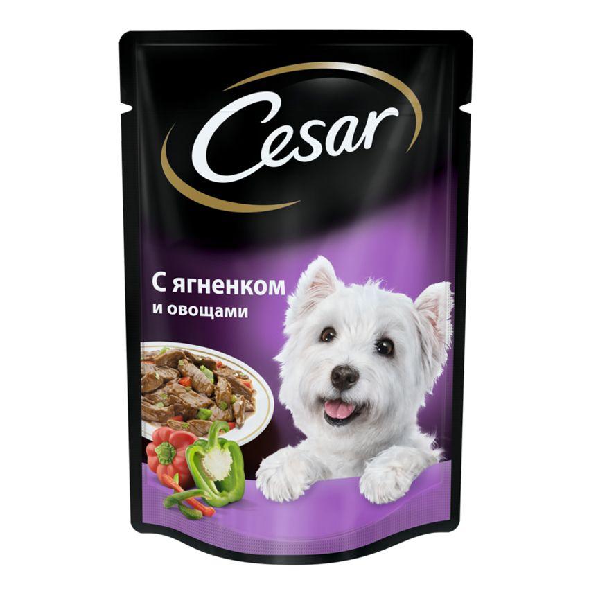 Корм для собак Cesar Ягненок с овощами конс. 100г