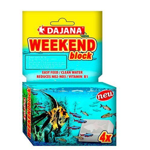 Корм для рыб DAJANA Weekend Block блок 25г 4шт/упк dajana корм для рыб dajana legend mini granules мини гранулы 100мл
