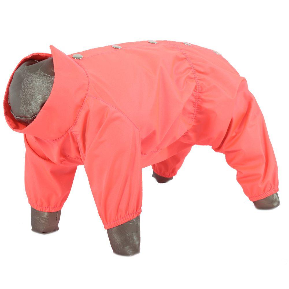 Дождевик для собак YORIKI Розовый неон девочка р. XL 32см