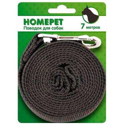 Поводок для собак HOMEPET нейлоновый 7м с карабином 25мм поводок homepet 3 метра с карабином 18мм