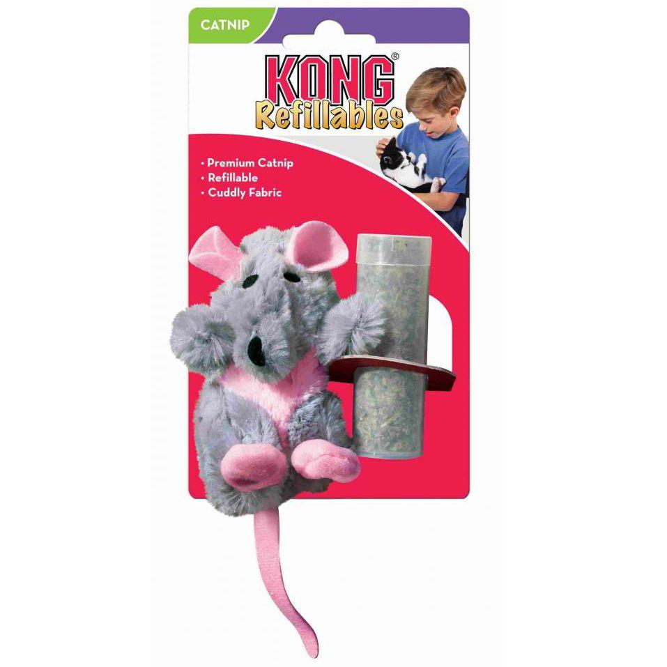 Игрушка для кошек KONG Крыса плюш с тубом кошачьей мяты 12см игрушка заводная гусеница 12см