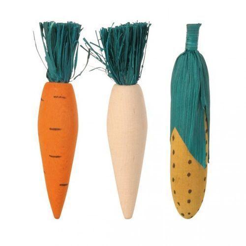 Игрушка для грызунов TRIXIE деревянные овощи 10см