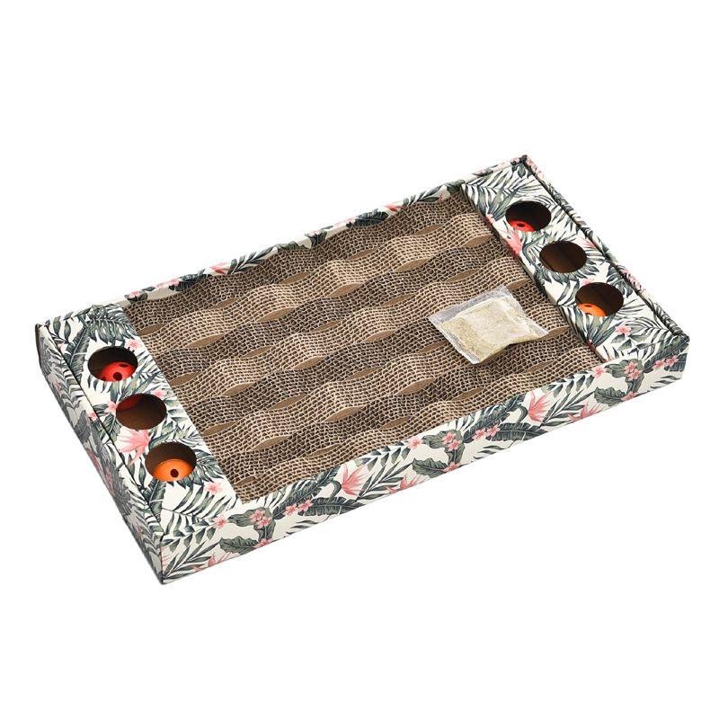 Когтеточка для кошек Foxie Palm Tree Доска с мячиками картон 45х24х5см