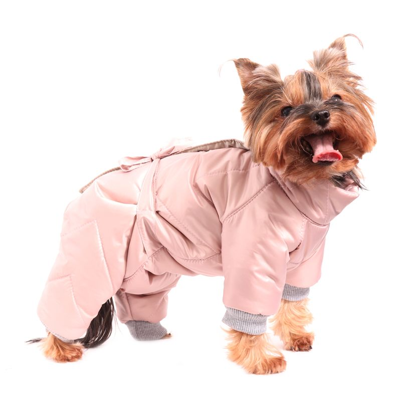 Комбинезон для собак YORIKI Пудра дев. S 20 см комбинезон для собак yoriki космонавт унисекс s 20 см