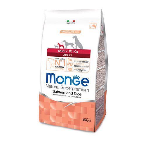 цена на Корм для собак Monge Dog Speciality Mini для мелких пород лосось с рисом сух. 800г