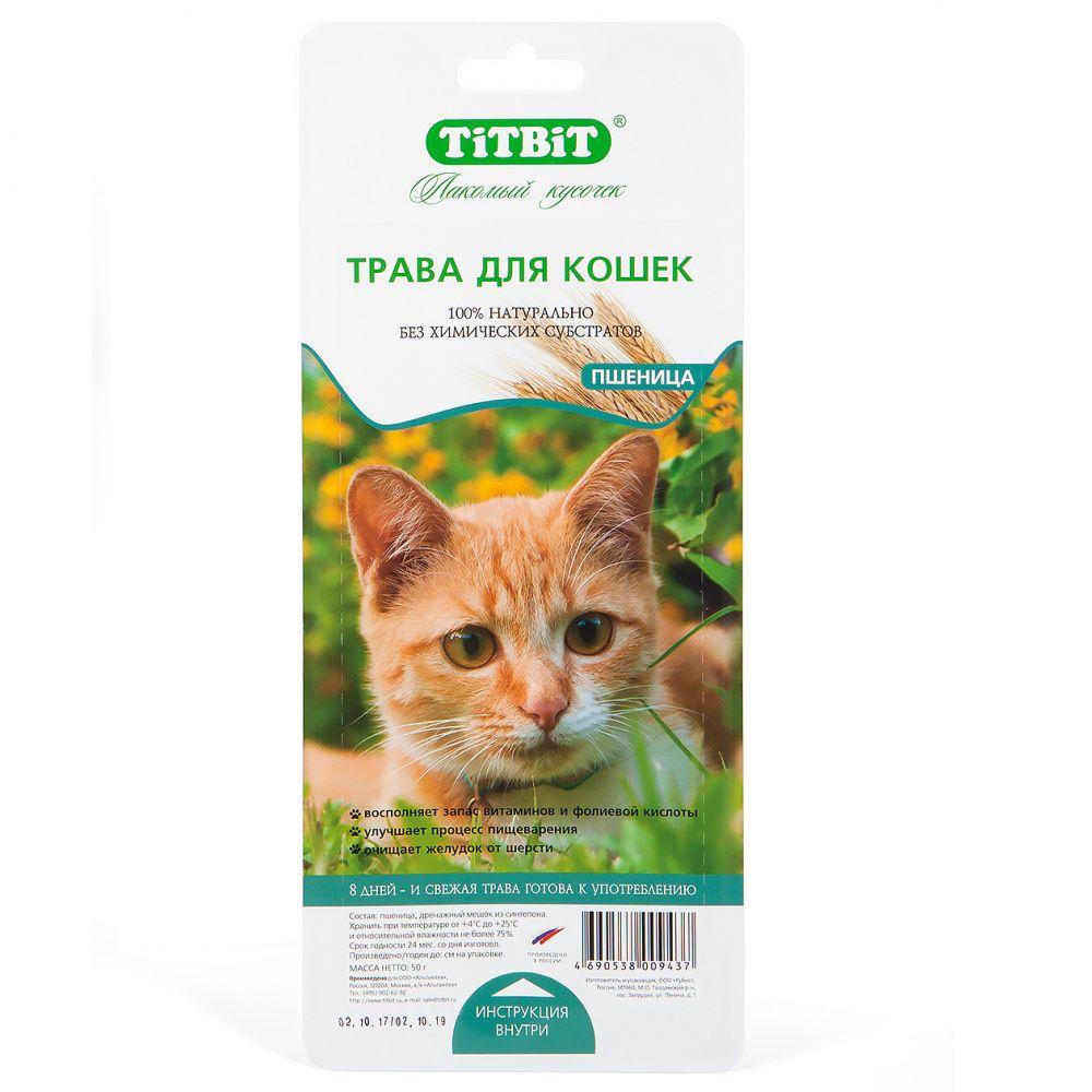 цена на Травка для кошек TITBIT пшеница
