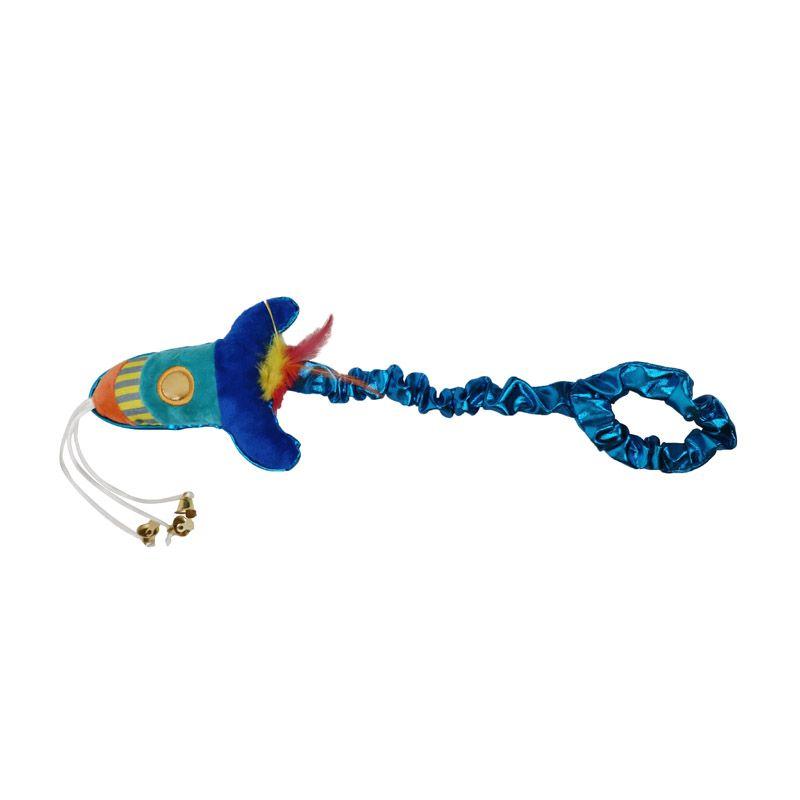 Игрушка для кошек CHOMPER Super Space Дразнилка Ракета с колокольчиками игрушка для птиц ferplast забава игрушка с 3 мя колокольчиками