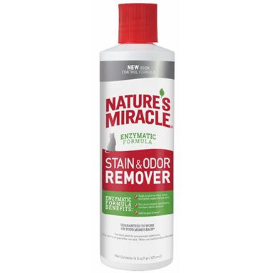 Уничтожитель пятен и запахов 8 IN 1 NATURES MIRACLE JFC S&O Remover для кошек универсальный 473мл 8in1 cat stain and odor exterminator nm jfc s